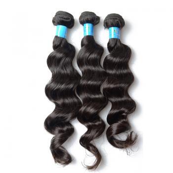 "Unprocessed Peruvian Loose Wave Human Peruvian Hair, AAAAA Hair Grade, 10""-40""inch Length"