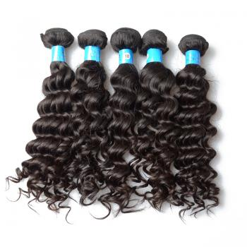 Cheap Brazilian hair weaving deep wave hair extensions