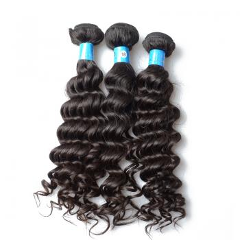 Hot sale virgin Brazilian deep wave hair extensions