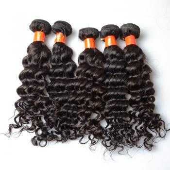 natural black Indian hair weav