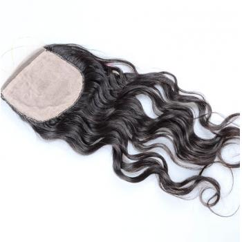 virgin hair silk based closure,human closure