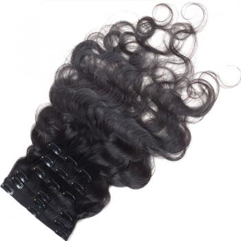 6A human hair extensions, clip-in extension