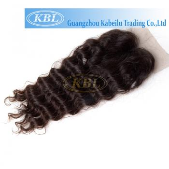 swiss lace closure, deep wave virgin human hair,