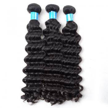 7A,Brazilian Hair,Deep Wave, unprocessed virgin brazilian hair
