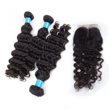 Curly hair,Top Closure,Bundles Virgin Hair,Brazilian,Brazilian 5A Hair