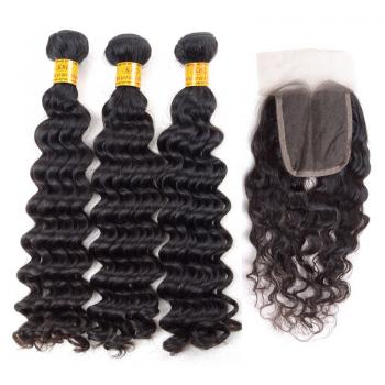 Peruvian Deep Wave Virgin Hair,100% Unprocessed,hot,lace closure,6A human hair,6A hair