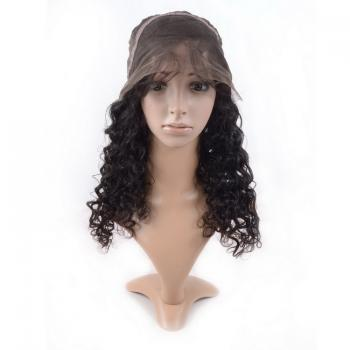 Unprocessed virgin brazilian hair,full lace human hair wigs,deep wave closure
