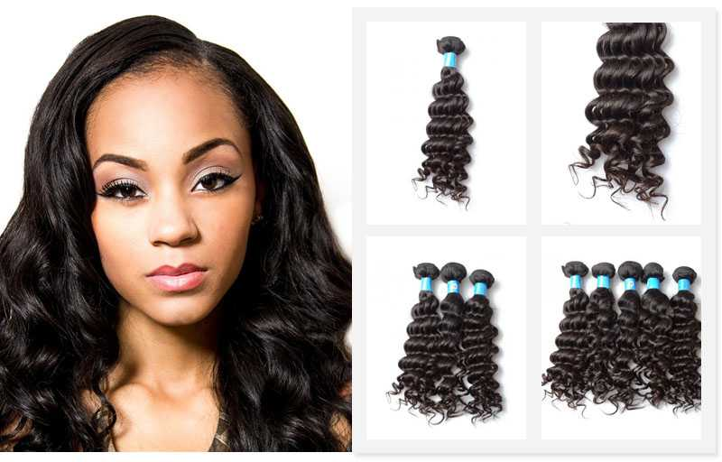 Cheap Brazilian Human Hair Weave Deep Wave Hair Extensions